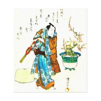 Actor Onoe Kikugoro 1818 Canvas Prints