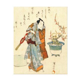 Actor Onoe Kikugoro 1818 Stretched Canvas Prints
