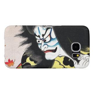 Actor oriental fresco del kabuki de Togakushi del Funda Samsung Galaxy S6