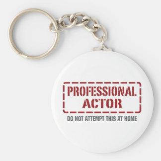 Actor profesional llavero redondo tipo pin