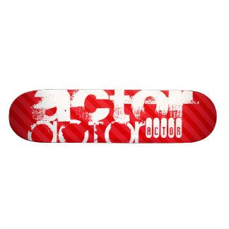 Actor; Rayas del rojo del escarlata Patines Personalizados