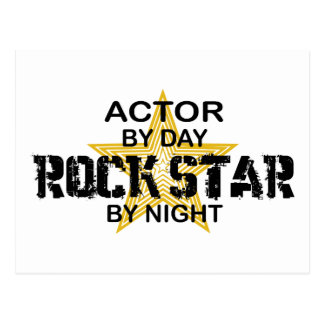 Actor Rock Star by Night Postcard