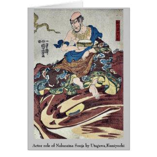 Actor role of Nakasaina Sonja by Utagawa Kuniyoshi Greeting Card