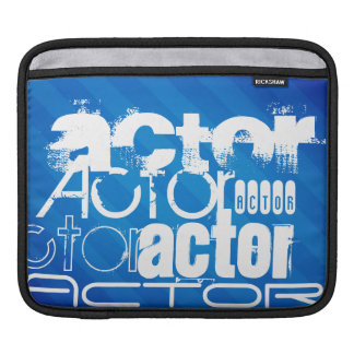Actor; Royal Blue Stripes iPad Sleeves