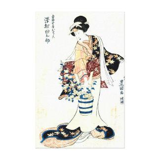 Actor Sawamura Tanosuke 1810 Stretched Canvas Prints