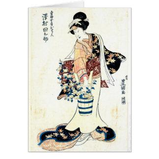 Actor Sawamura Tanosuke 1810 Tarjeta De Felicitación