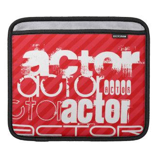 Actor; Scarlet Red Stripes iPad Sleeve