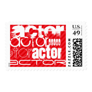 Actor; Scarlet Red Stripes Postage