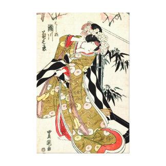 Actor Segawa Kikunojo 1821 Gallery Wrap Canvas