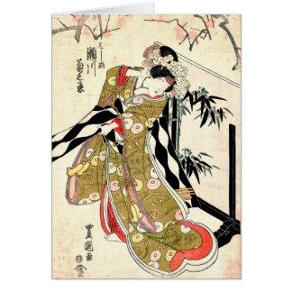 Actor Segawa Kikunojo 1821 Felicitacion
