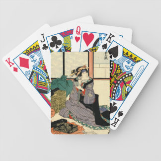 Actor Segawa Kikunojo V 1818 Bicycle Playing Cards