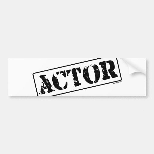 Actor Stamp Bumper Sticker