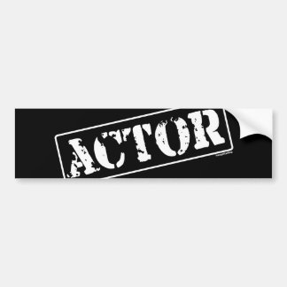 Actor Stamp Bumper Stickers