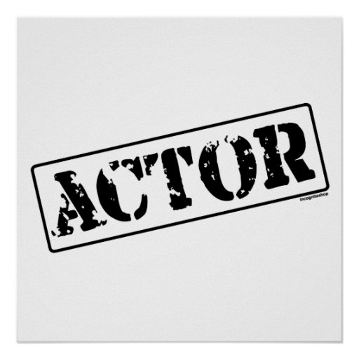 Actor Stamp Poster
