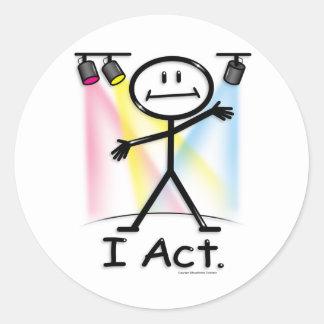 Actor Round Stickers
