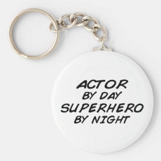 Actor Superhero by Night Basic Round Button Keychain