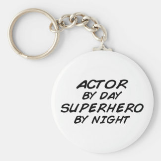 Actor Superhero by Night Keychain