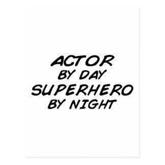 Actor Superhero by Night Postcard