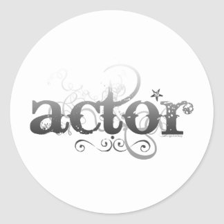 Actor urbano pegatina redonda