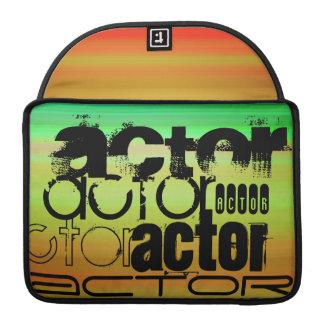 Actor; Vibrant Green, Orange, & Yellow MacBook Pro Sleeves