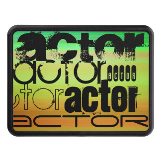 Actor; Vibrant Green, Orange, & Yellow Trailer Hitch Cover