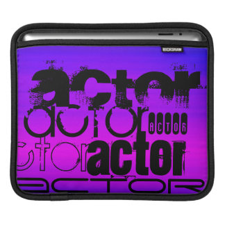 Actor; Vibrant Violet Blue and Magenta iPad Sleeves