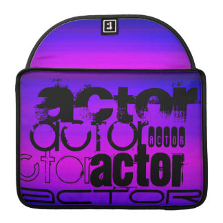 Actor; Vibrant Violet Blue and Magenta MacBook Pro Sleeve