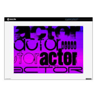 Actor; Vibrant Violet Blue and Magenta Skin For Laptop