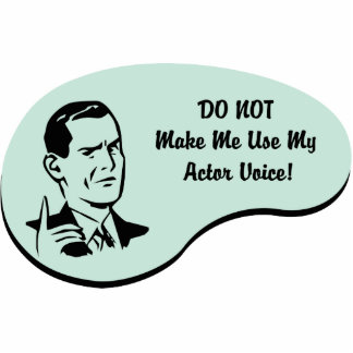 Actor Voice Statuette