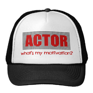 Actor, What's My Motivation?--Red And Black Trucker Hat