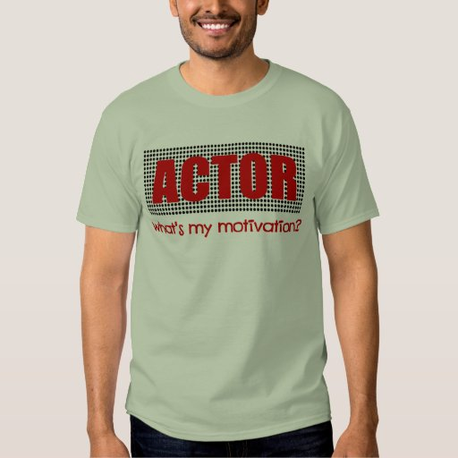 Actor, What's My Motivation?--Red And Black T-Shirt