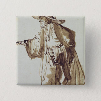 Actor with a Broad-rimmed Hat Pinback Button