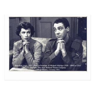 Actores Benedicta Leigh y Michael Aldridge Tarjeta Postal