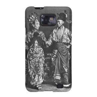 Actores chinos, c.1870 (foto de b/w) galaxy SII funda