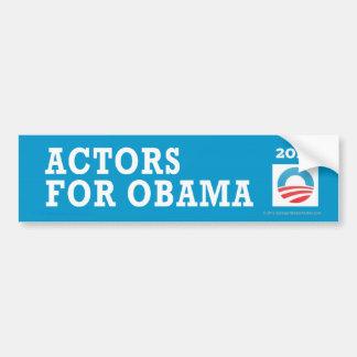 Actores de Favorable-Obama para Obama Pegatina De Parachoque