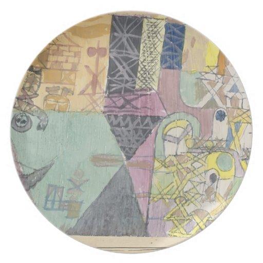 Actores del asiático de Paul Klee- Platos Para Fiestas