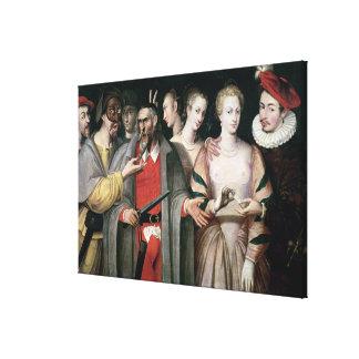 Actores del dell'Arte de Commedia Impresiones En Lona