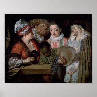 Actores del teatro Francais, c.1714-15 Póster