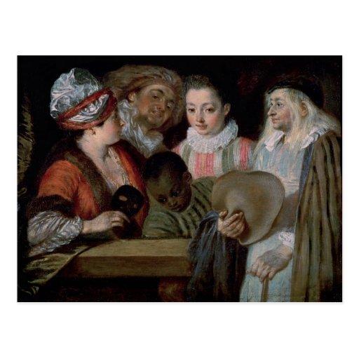 Actores del teatro Francais, c.1714-15 Tarjetas Postales
