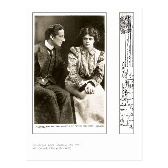 Actores Forbes Robertson y Gertrudis Elliott Postales