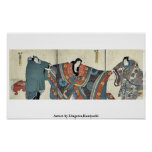 Actores por Utagawa, Kuniyoshi Impresiones