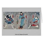 Actores por Utagawa, Kuniyoshi Tarjeta