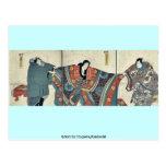 Actores por Utagawa, Kuniyoshi Tarjetas Postales