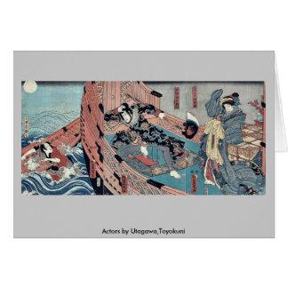 Actores por Utagawa, Toyokuni Tarjetón