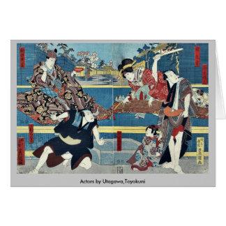 Actores por Utagawa, Toyokuni Tarjeta