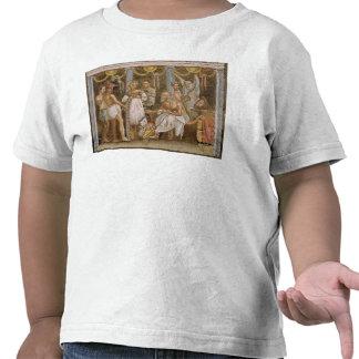 Actores que ensayan para un juego de sátiro, camisetas