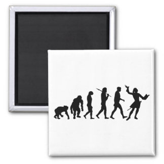 Actors acting theater performing arts evolution 2 inch square magnet