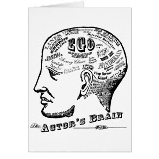 Actor's Brain Greeting Card