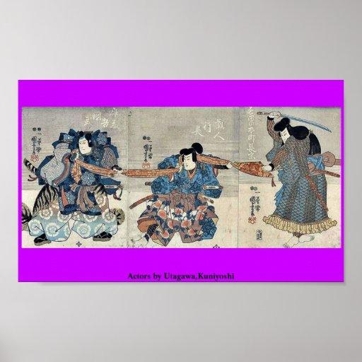 Actors by Utagawa,Kuniyoshi Poster
