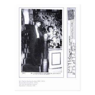 Actors Charles Hayden-Coffin & Isabel Jay Postcard